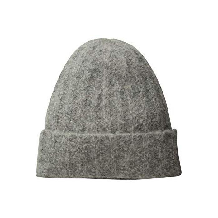 ビンス リブ キャップ 帽子 ソフト GRAY灰色 グレイ レディース 女性用 レディース帽子 ニット帽 【 GREY VINCE RIBBED BEANIE SOFT 】