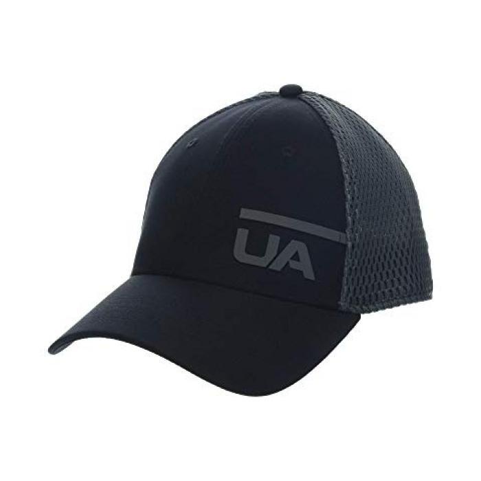 アンダー アーマー トレイン スペーサー メッシュ キャップ 帽子 灰色 グレー グレイ アンダーアーマー メンズ 男性用 メンズ帽子 【 GRAY UNDER ARMOUR TRAIN SPACER MESH CAP BLACK PITCH 】