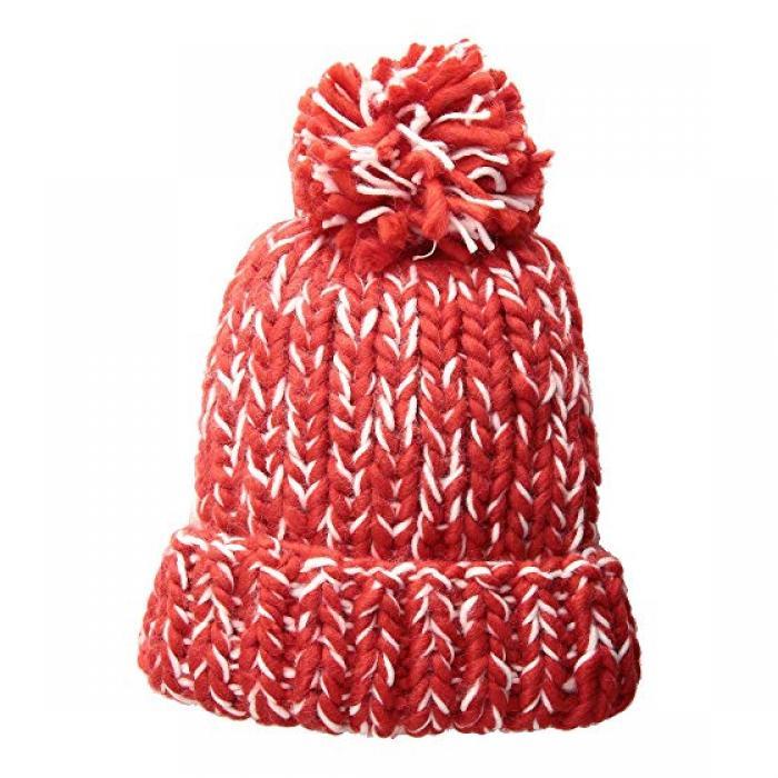 サン ディエゴ ハット カンパニー チャンキー ニット キャップ 帽子 赤 レッド レディース 女性用 バッグ レディース帽子 【 SAN DIEGO HAT COMPANY KNH3590 CHUNKY MARLED KNIT BEANIE WITH POM RED 】