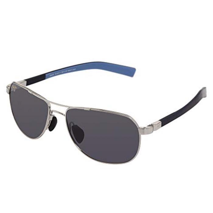 マウイ GRAY灰色 グレイ レンズ レディース 女性用 サングラス 眼鏡 【 GREY MAUI JIM GUARDRAILS SILVER BLUE NEUTRAL LENS 】