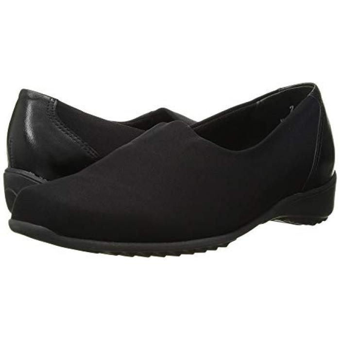 トラベラー 黒 ブラック ストレッチ ファブリック レディース 女性用 レディース靴 【 BLACK MUNRO TRAVELER STRETCH FABRIC 】