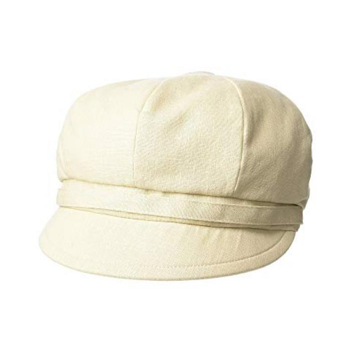 サン ディエゴ ハット カンパニー ベイカー ボーイ リネン キャップ 帽子 ナチュラル レディース 女性用 小物 レディース帽子 【 SAN DIEGO HAT COMPANY CTH8164 BAKER BOY LINEN CAP NATURAL 】