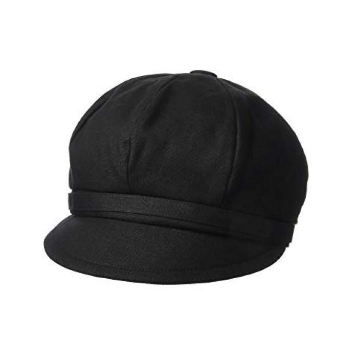 サン ディエゴ ハット カンパニー ベイカー ボーイ リネン キャップ 帽子 黒 ブラック レディース 女性用 ブランド雑貨 【 BLACK SAN DIEGO HAT COMPANY CTH8164 BAKER BOY LINEN CAP 】