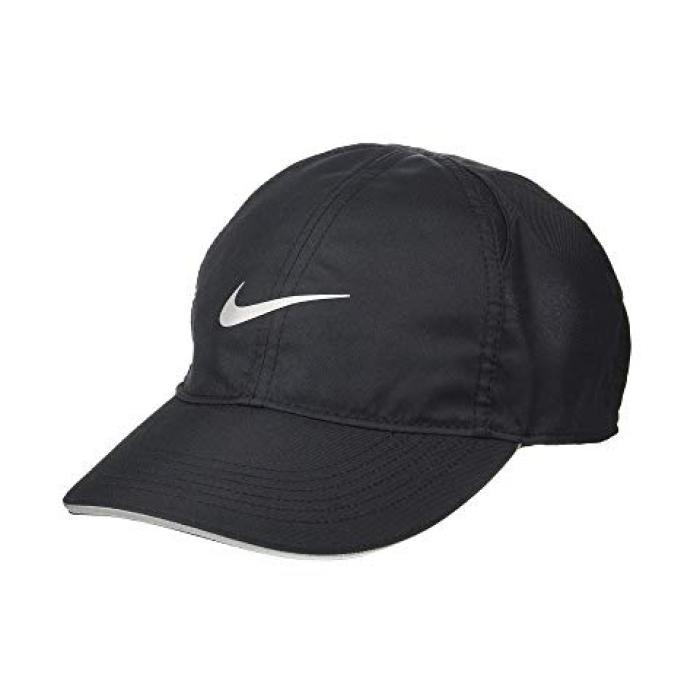 ナイキ キャップ 帽子 ラン 黒 ブラック レディース 女性用 ブランド雑貨 【 NIKE BLACK FEATHERLIGHT CAP RUN 】