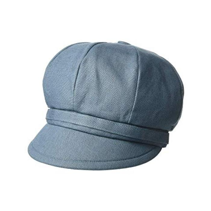 サン ディエゴ ハット カンパニー ベイカー ボーイ リネン キャップ 帽子 藍色 インディゴ レディース 女性用 ブランド雑貨 【 SAN DIEGO HAT COMPANY CTH8164 BAKER BOY LINEN CAP INDIGO 】