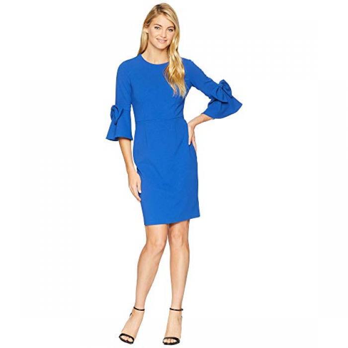 FRNCH Womens Angelie Shift Dress Blue L