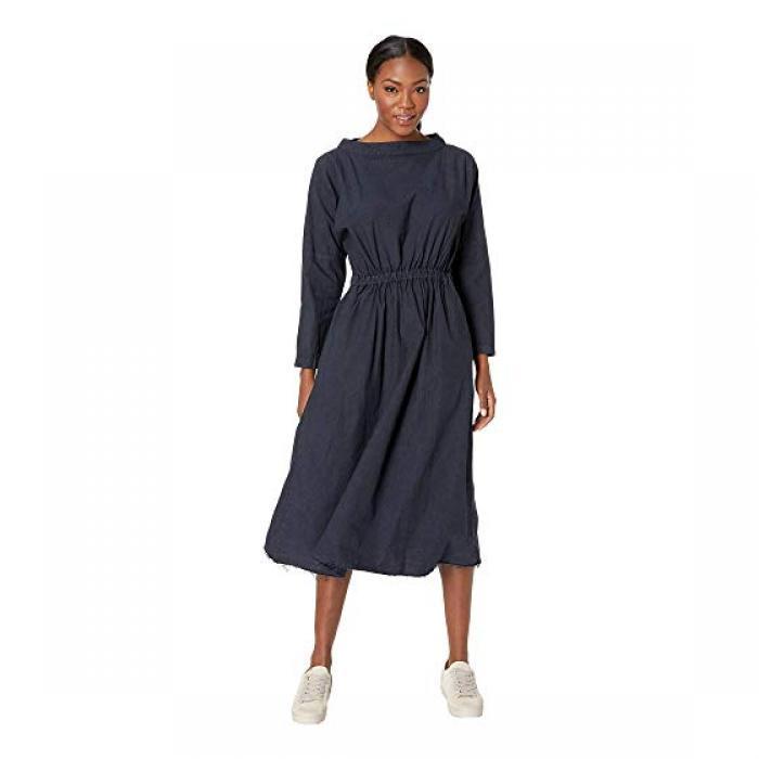 スノー ピーク オーガニック コットン シャーリング ドレス ワンピース 黒 ブラック レディース 女性用 レディースファッション 【 BLACK SNOW PEAK ORGANIC COTTON SHIRRING DRESS 】