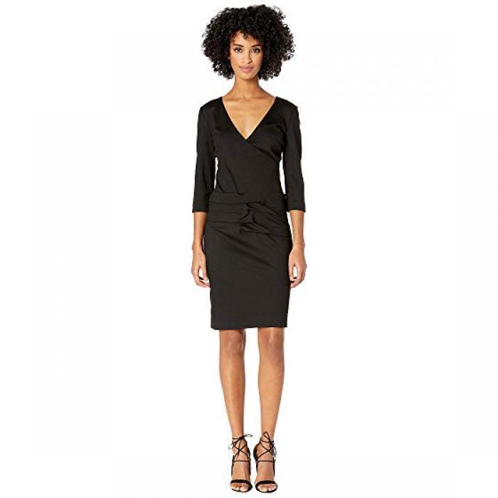 ニコール ミラー ポンテ プリーツ ドレス ワンピース 黒 ブラック レディース 女性用 レディースファッション 【 BLACK NICOLE MILLER PONTE TIDAL PLEAT DRESS 】