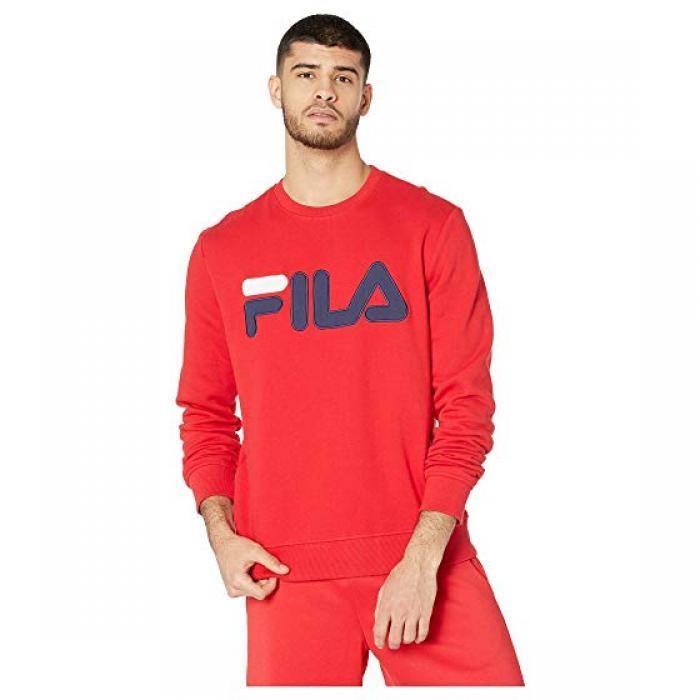 フィラ トレーナー チャイニーズ メンズ 男性用 メンズファッション 【 FILA REGOLA SWEATSHIRT CHINESE RED NAVY WHITE 】