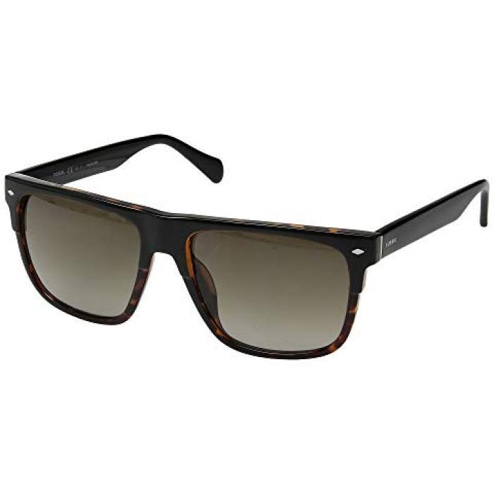 フォッシル 黒 ブラック メンズ 男性用 ブランド雑貨 眼鏡 【 BLACK FOSSIL FOS 3075 S HAVANA BROWN GRADIENT 】