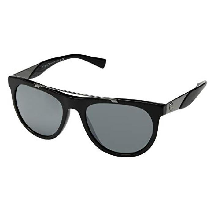 ヴェルサーチ ベルサーチ ミラー 銀色 シルバー メンズ 男性用 眼鏡 バッグ 【 VERSACE VE4347 BLACK GREY MIRROR SILVER 】