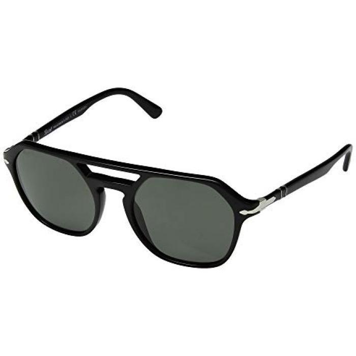 メンズ 男性用 眼鏡 バッグ 【 PERSOL 0PO3206S BLACK GREEN POLARIZED 】