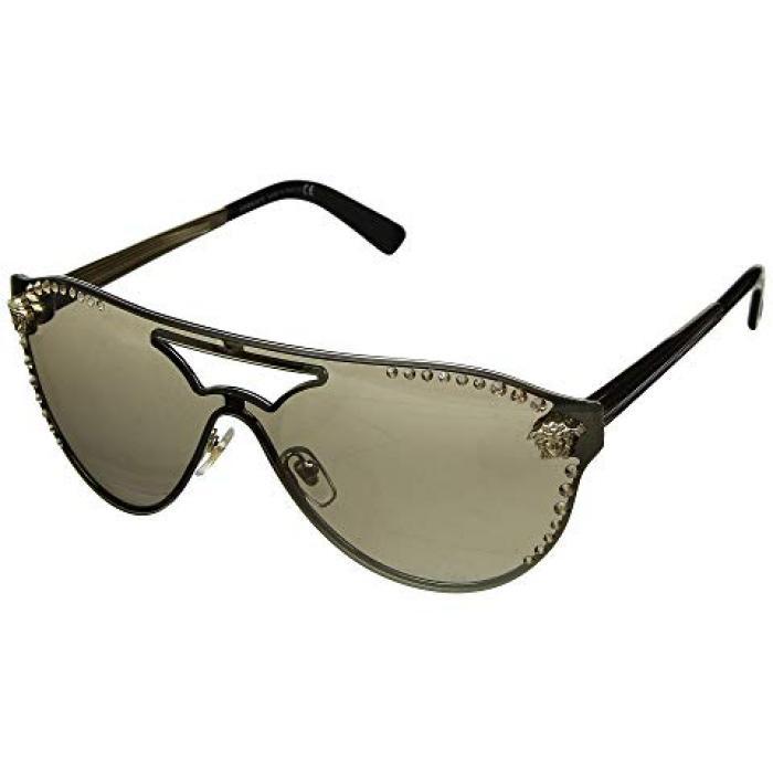 ヴェルサーチ ベルサーチ 茶 ブラウン ミラー ゴールド 金 レディース 女性用 サングラス 眼鏡 【 VERSACE VE2161B PALE GOLD LIGHT BROWN MIRROR 】