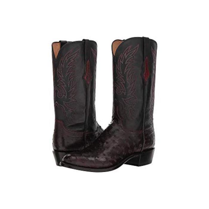 アンティーク 黒 ブラック チェリー メンズ 男性用 メンズ靴 靴 【 BLACK LUCCHESE ELGIN ANTIQUE CHERRY 】