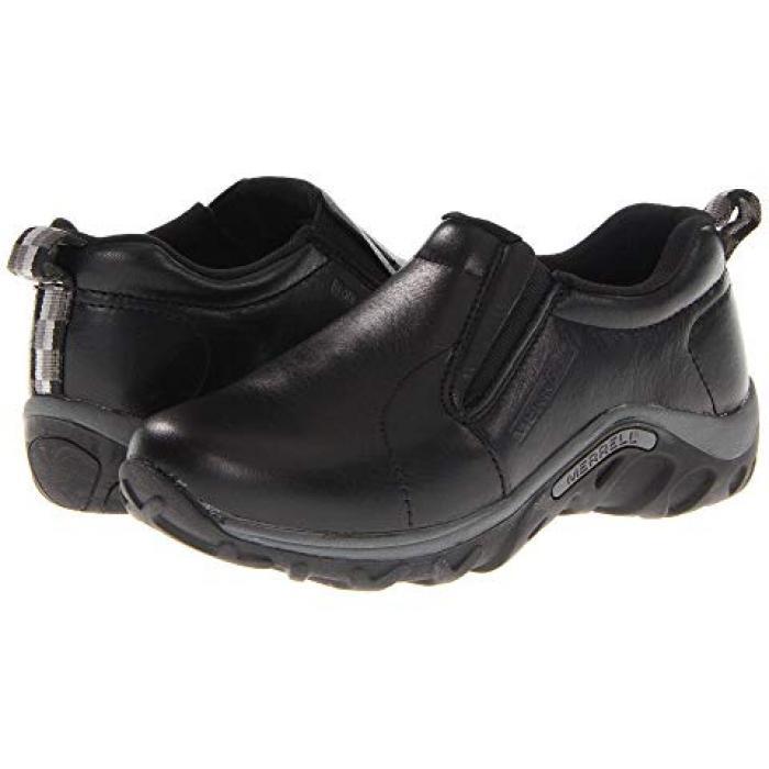 【エントリーで全商品ポイント10倍1/9 20:00-1/16 01:59迄】ジャングル モック レザー 黒 ブラック 子供用 ビッグキッズ 靴 フォーマル靴 【 BLACK MERRELL KIDS JUNGLE MOC LEATHER TODDLER 】