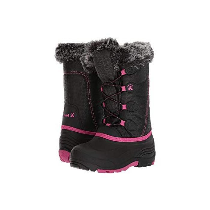 【エントリーで全商品ポイント10倍1/9 20:00-1/16 01:59迄】子供用 ビッグキッズ ブーツ 靴 【 KAMIK KIDS SNOWGYPSY TODDLER BLACK MAGENTA 1 】
