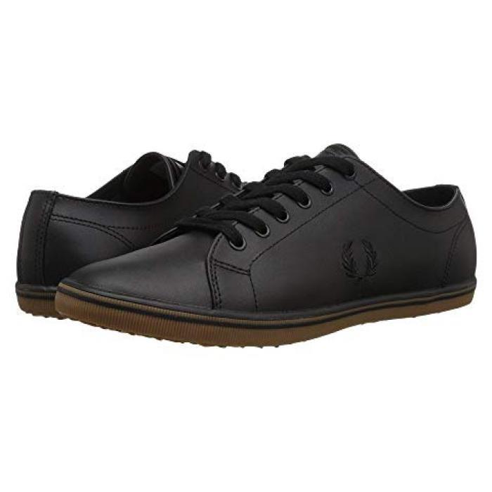 フレッド ペリー キングストン レザー 黒 ブラック メンズ 男性用 靴 スニーカー 【 BLACK FRED PERRY KINGSTON LEATHER 1 】