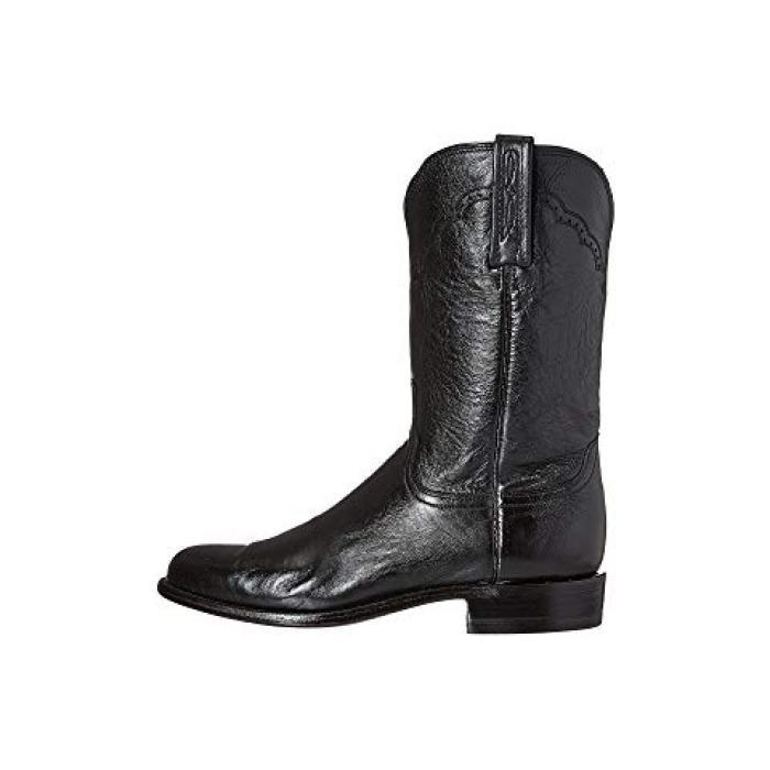黒 ブラック カーフ メンズ 男性用 靴 【 BLACK LUCCHESE M1010 LONESTAR CALF 】