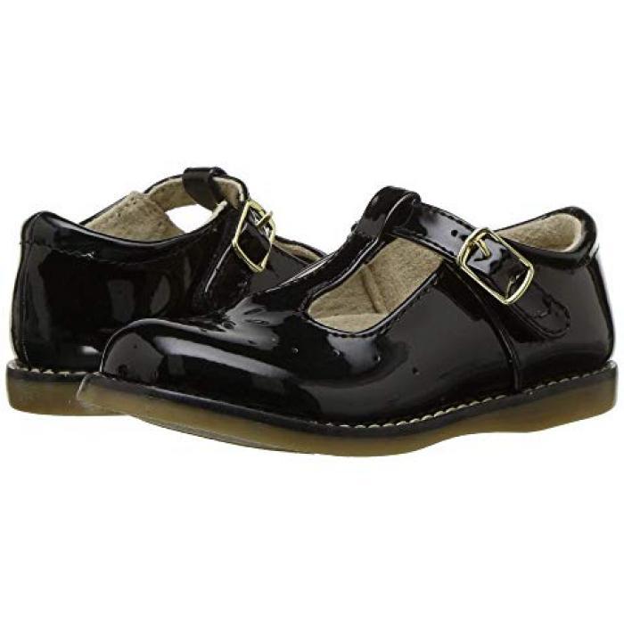 【エントリーで全商品ポイント10倍1/9 20:00-1/16 01:59迄】黒 ブラック パテント 子供用 ビッグキッズ 靴 キッズ 【 BLACK FOOTMATES SHERRY 2 TODDLER PATENT 】