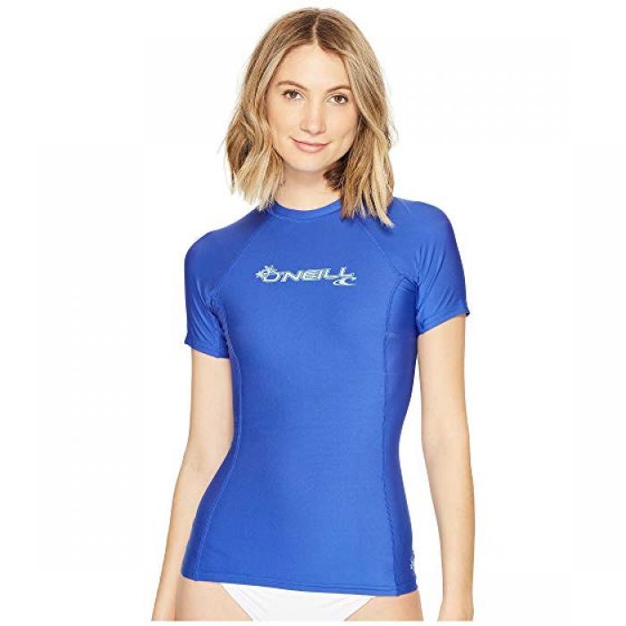 【同梱不可】 O'NEILL クルー オニール ベーシック スキンズ 女性用 半袖 O'NEILL Tシャツ クルー 青 ブルー レディース 女性用 水着 レディースファッション【 SKINS BLUE BASIC S CREW TAHITIAN】, クンネップチョウ:9cf7ca75 --- canoncity.azurewebsites.net