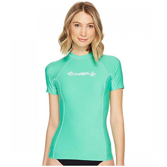 O'NEILL オニール ベーシック スキンズ 半袖 Tシャツ クルー レディース 女性用 水着 レディースファッション 【 SKINS BASIC S CREW SEAGLASS 】