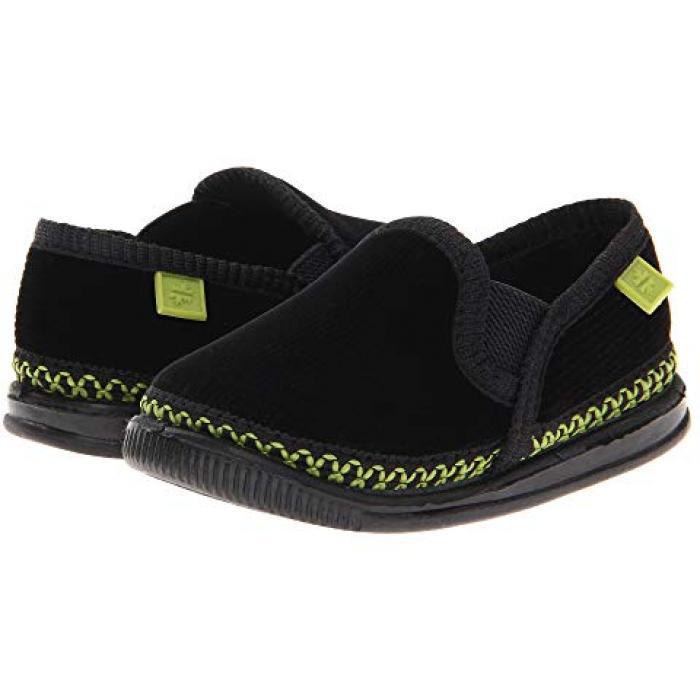 【エントリーで全商品ポイント10倍1/9 20:00-1/16 01:59迄】子供用 ビッグキッズ 上履き 靴 【 FOAMTREADS KIDS INNSBRUCK TODDLER BLACK GREEN 】