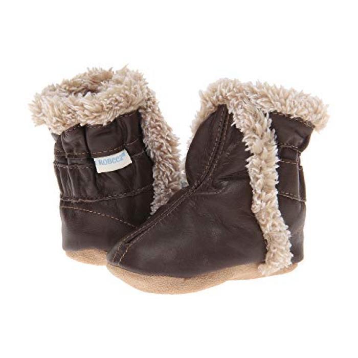 【エントリーで全商品ポイント10倍1/9 20:00-1/16 01:59迄】クラシック 茶 ブラウン ベビー 赤ちゃん用 靴 ベビー靴 【 ROBEEZ CLASSIC BOOTIE INFANT TODDLER BROWN 】