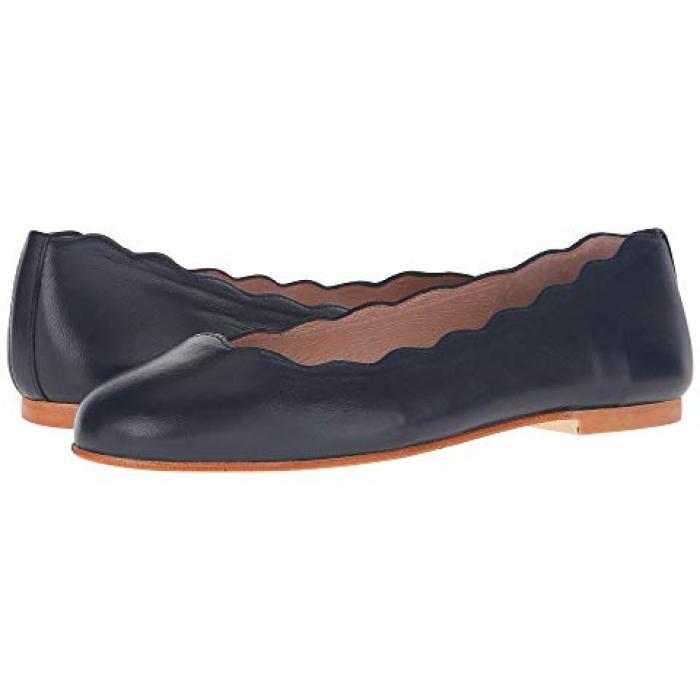 フレンチ ソール 紺 ネイビー ナッパ レディース 女性用 靴 バレエシューズ 【 NAVY FRENCH SOLE JIGSAW NAPPA 】