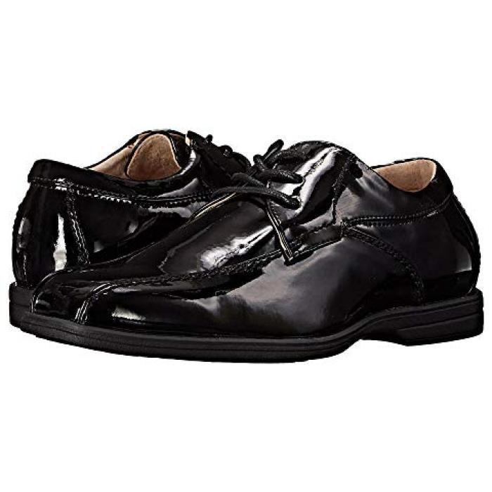 【エントリーで全商品ポイント10倍1/9 20:00-1/16 01:59迄】リビール オックス 黒 ブラック パテント JR. 子供用 ビッグキッズ マタニティ 靴 【 BLACK FLORSHEIM KIDS REVEAL BIKE OX TODDLER PATENT 】