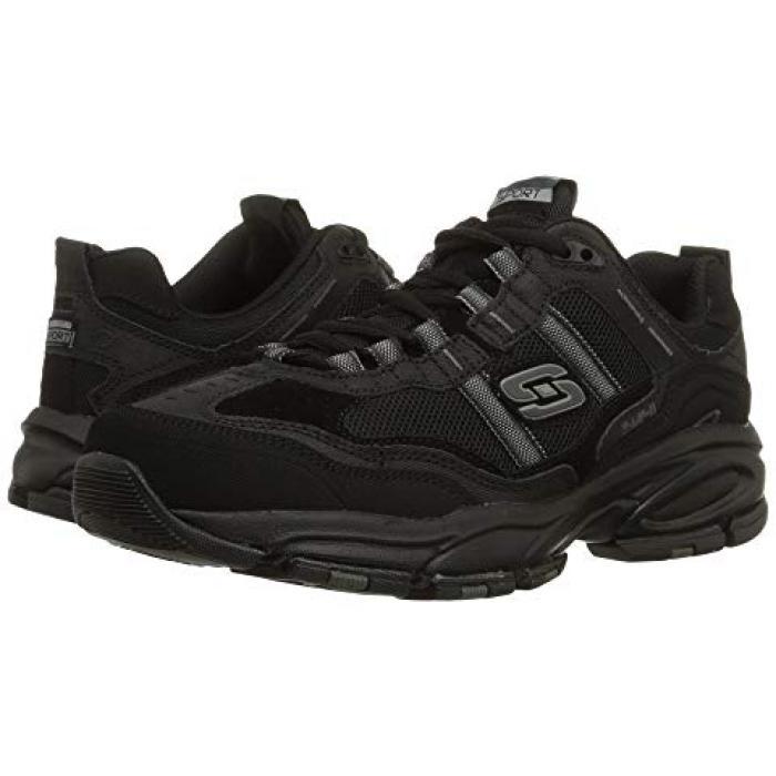 スケッチャーズ 黒 ブラック 2.0 メンズ 男性用 メンズ靴 靴 【 BLACK SKECHERS VIGOR TRAIT 】