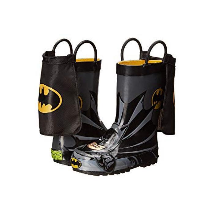 ウェスタン チーフ バットマン レイン ブーツ 黒 ブラック 子供用 ビッグキッズ キッズ 靴 【 BLACK WESTERN CHIEF KIDS BATMAN EVERLASTING RAIN BOOT TODDLER 】