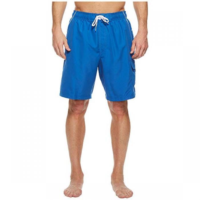 スピードメーター マリーナ バレー スイム トランク クラシック メンズ 男性用 水着 メンズファッション 【 SPEEDO MARINA VOLLEY SWIM TRUNK CLASSIC BLUE WHITE 】