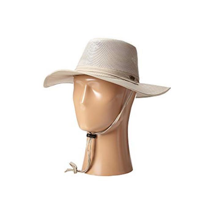 ビッグ ブライム メッシュ サファリ ノー フライ ゾーン シールド ファブリック カーキ レディース 女性用 レディース帽子 帽子 【 ZONE STETSON BIG BRIM MESH SAFARI WITH NO FLY INSECT SHIELD FABRIC KHAKI 】