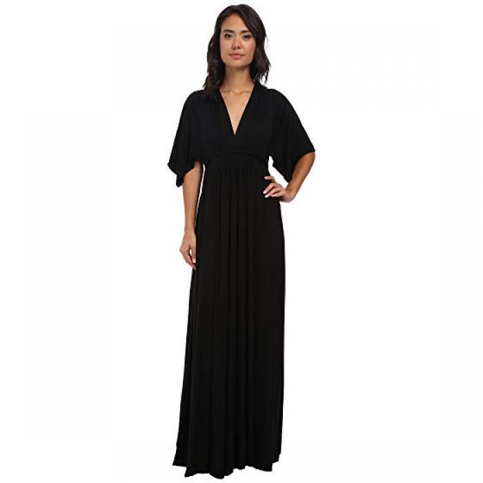 レイチェル ロング ドレス ワンピース 黒 ブラック レディース 女性用 レディースファッション 【 BLACK RACHEL PALLY LONG CAFTAN DRESS 】