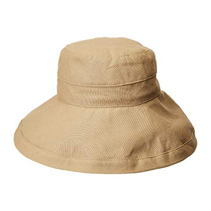 ビッグ ブライム コットン サン ハット デザート レディース 女性用 小物 バッグ 【 SCALA BIG BRIM COTTON SUN HAT DESERT 】