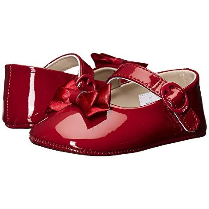 【エントリーで全商品ポイント10倍1/9 20:00-1/16 01:59迄】ベイビー ディア メアリー ジェーン 赤 レッド パテント ベビー 赤ちゃん用 ファッション ベビー服 【 BABY DEER SKIMMER MARY JANE INFANT RED PATENT 】