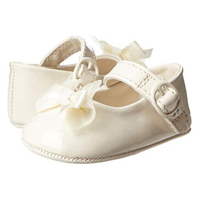 Infant 10 Baby Girls Pretty Cream Patent Diamond Shoe Baby Size 1
