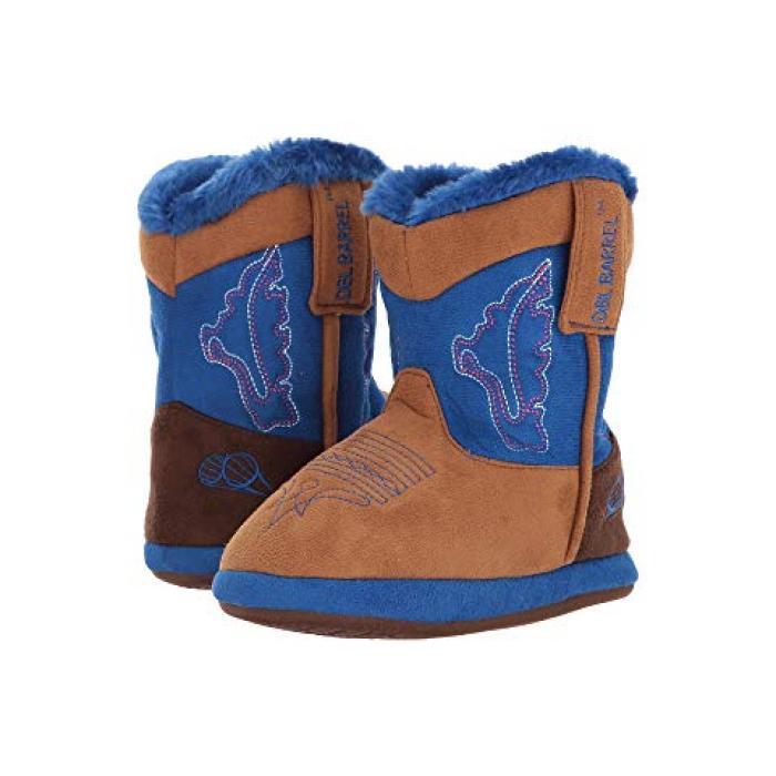 【エントリーで全商品ポイント10倍1/9 20:00-1/16 01:59迄】ウェスタン カウボーイ スリッパ M&F 子供用 ビッグキッズ 上履き 靴 【 WESTERN KIDS COWBOY BOOTIE SLIPPER TODDLER TAN BLUE 】