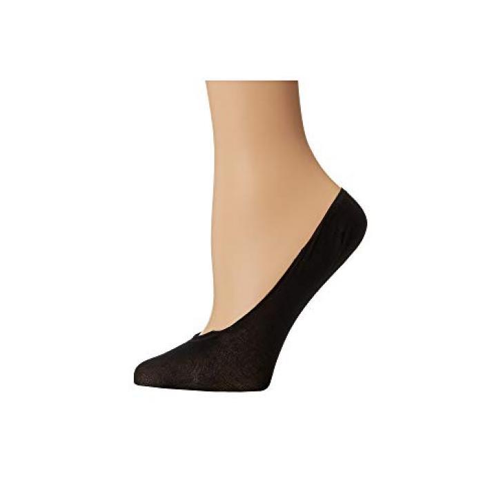 【エントリーで全商品ポイント10倍1/9 20:00-1/16 01:59迄】ウォルフォード コットン ソック 黒 ブラック レディース 女性用 【 BLACK WOLFORD COTTON FOOTSIES SOCK 】