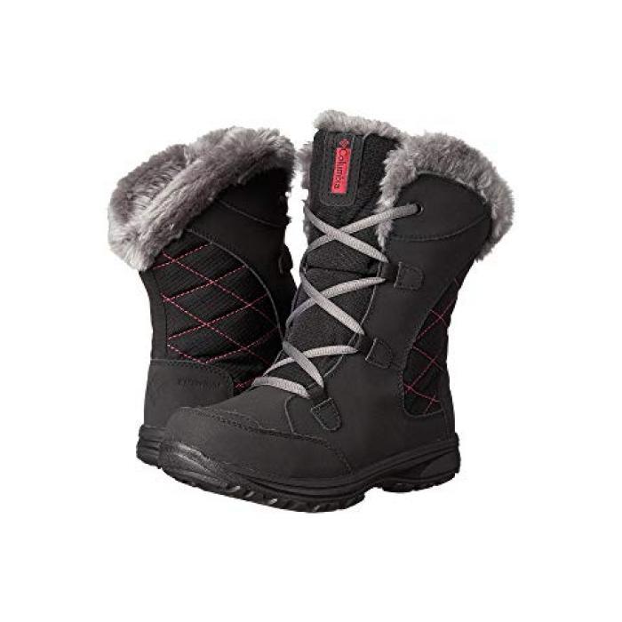 【エントリーで全商品ポイント10倍1/9 20:00-1/16 01:59迄】コロンビア アイス レース ブーツ MAIDEN 子供用 リトルキッズ 靴 【 COLUMBIA KIDS ICE LACE II BOOT BLACK SHALE 】