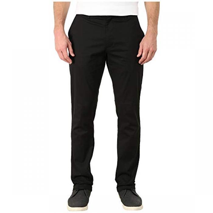 ルーカ ストレッチ パンツ 黒 ブラック メンズ 男性用 メンズファッション 【 RVCA BLACK THE WEEKEND STRETCH PANTS 】