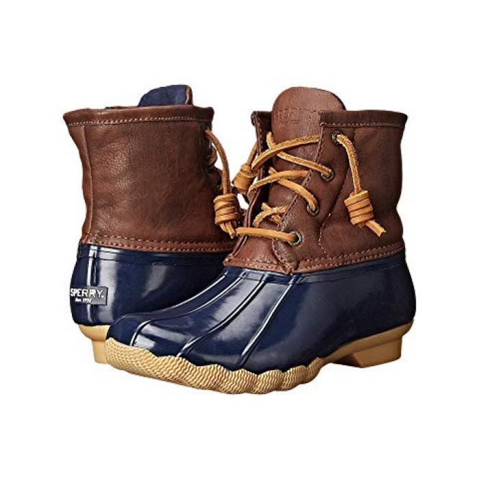 【エントリーで全商品ポイント10倍1/9 20:00-1/16 01:59迄】ブーツ 紺 ネイビー 子供用 リトルキッズ ベビー 靴 【 NAVY SPERRY KIDS SALTWATER BOOT 】