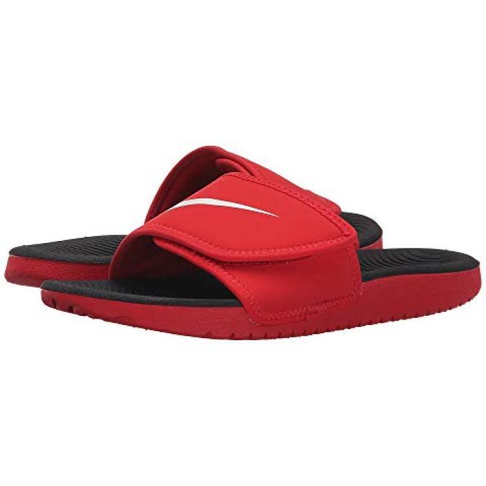 【エントリーで全商品ポイント10倍1/9 20:00-1/16 01:59迄】ナイキ カワ ユニバーシティー 子供用 リトルキッズ サンダル 靴 【 NIKE KIDS KAWA ADJUST UNIVERSITY RED WHITE 】