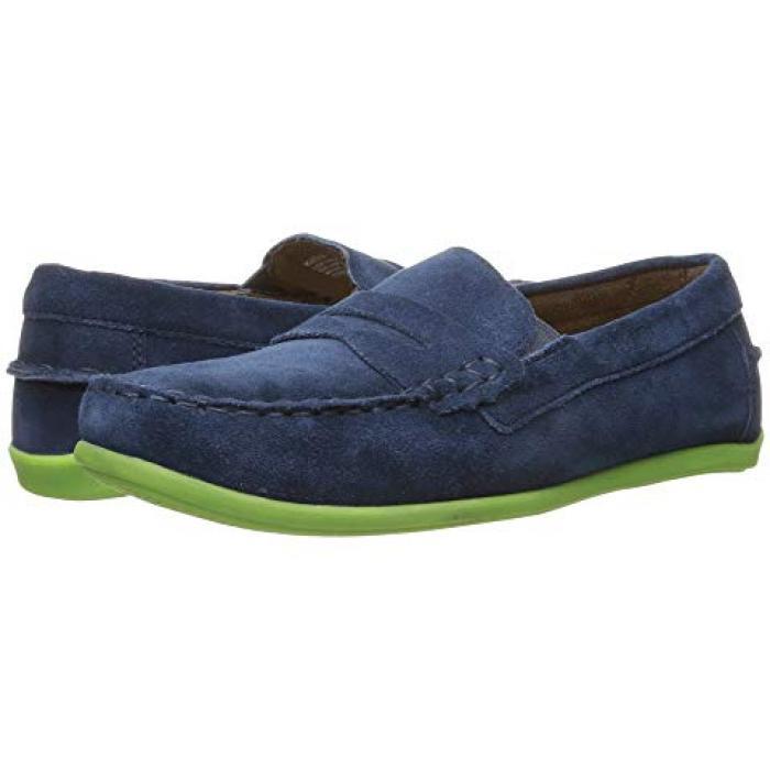 ジャスパー 青 ブルー スエード スウェード JR. 子供用 ビッグキッズ フォーマル靴 靴 【 BLUE FLORSHEIM KIDS JASPER DRIVER TODDLER SUEDE 】