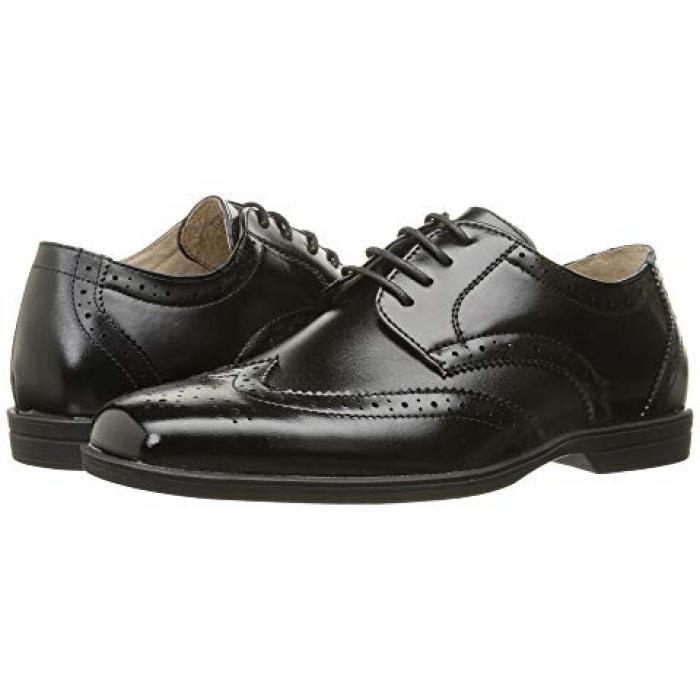 【エントリーで全商品ポイント10倍1/9 20:00-1/16 01:59迄】リビール 黒 ブラック JR. 子供用 ビッグキッズ フォーマル靴 靴 【 BLACK FLORSHEIM KIDS REVEAL WINGTIP TODDLER 】