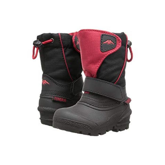 【エントリーで全商品ポイント10倍1/9 20:00-1/16 01:59迄】ブーツ 子供用 ビッグキッズ キッズ 【 TUNDRA BOOTS KIDS QUEBEC TODDLER BLACK RED 】