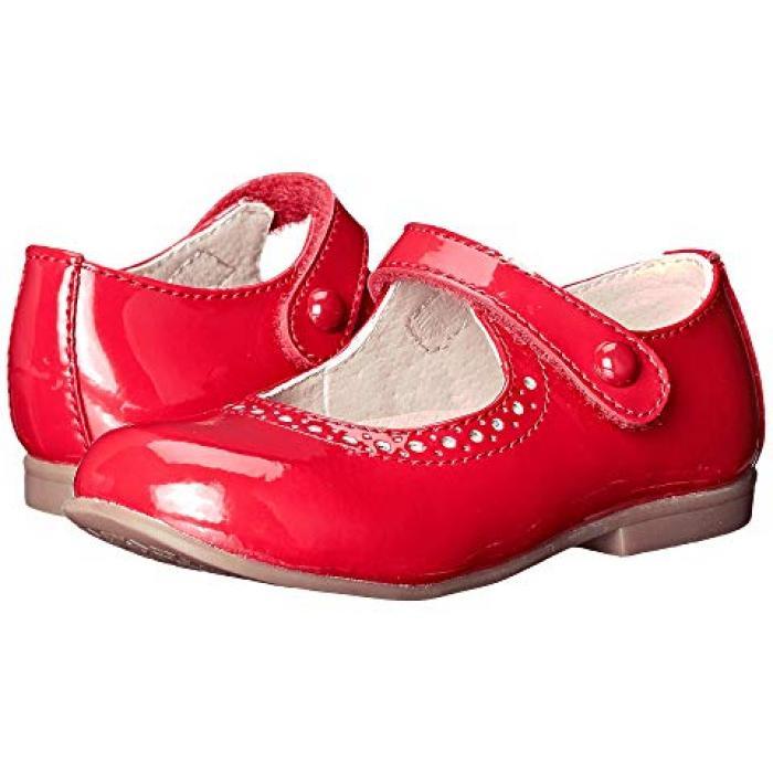 【エントリーで全商品ポイント10倍1/9 20:00-1/16 01:59迄】エマ 赤 レッド パテント 子供用 ビッグキッズ キッズ 靴 【 FOOTMATES EMMA TODDLER RED PATENT 】