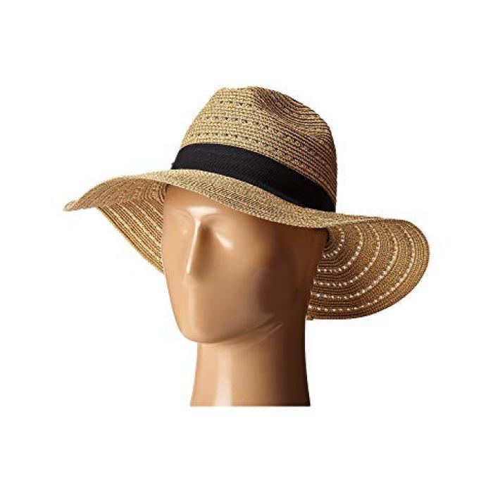 サン ディエゴ ハット カンパニー インチ ブライム パナマ ゴールド 金 スペック ナチュラル レディース 女性用 帽子 レディース帽子 【 SAN DIEGO HAT COMPANY UBM4454 4 INCH BRIM PANAMA FEDORA WITH GOLD LUREX