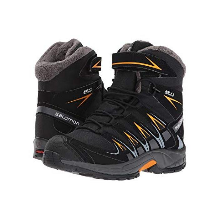 【エントリーで全商品ポイント10倍1/9 20:00-1/16 01:59迄】サロモン プロ ウィンター ティーエス マリーゴールド 子供用 リトルキッズ ブーツ 靴 【 SALOMON KIDS XA PRO 3D WINTER TS CSWP BLACK INDIA INK BRIGHT MARIGOLD 】