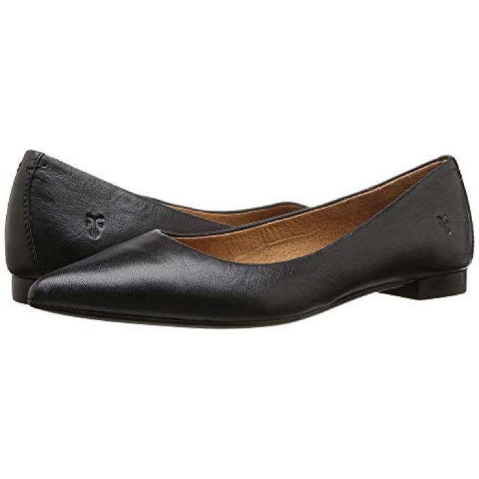 フライ シエナ バレエ 黒 ブラック ポリッシュ ソフト フル グレイン レディース 女性用 靴 【 BLACK FRYE SIENNA BALLET POLISHED SOFT FULL GRAIN 】